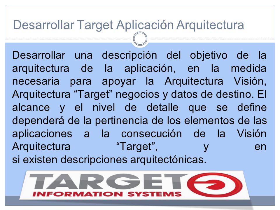 Desarrollar Target Aplicación Arquitectura