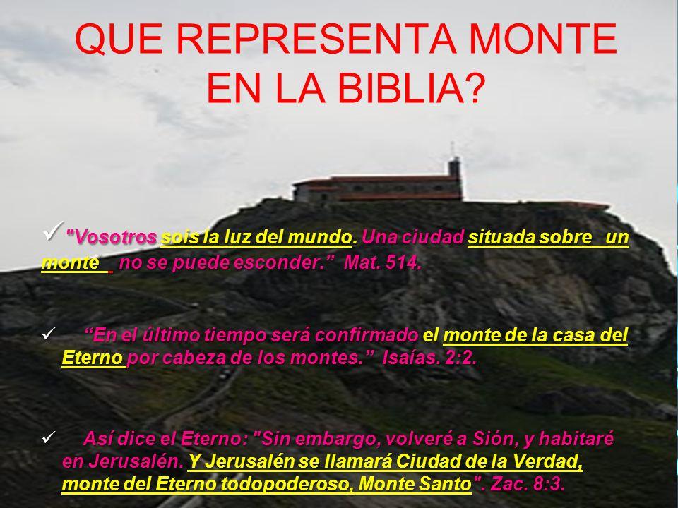 QUE REPRESENTA MONTE EN LA BIBLIA