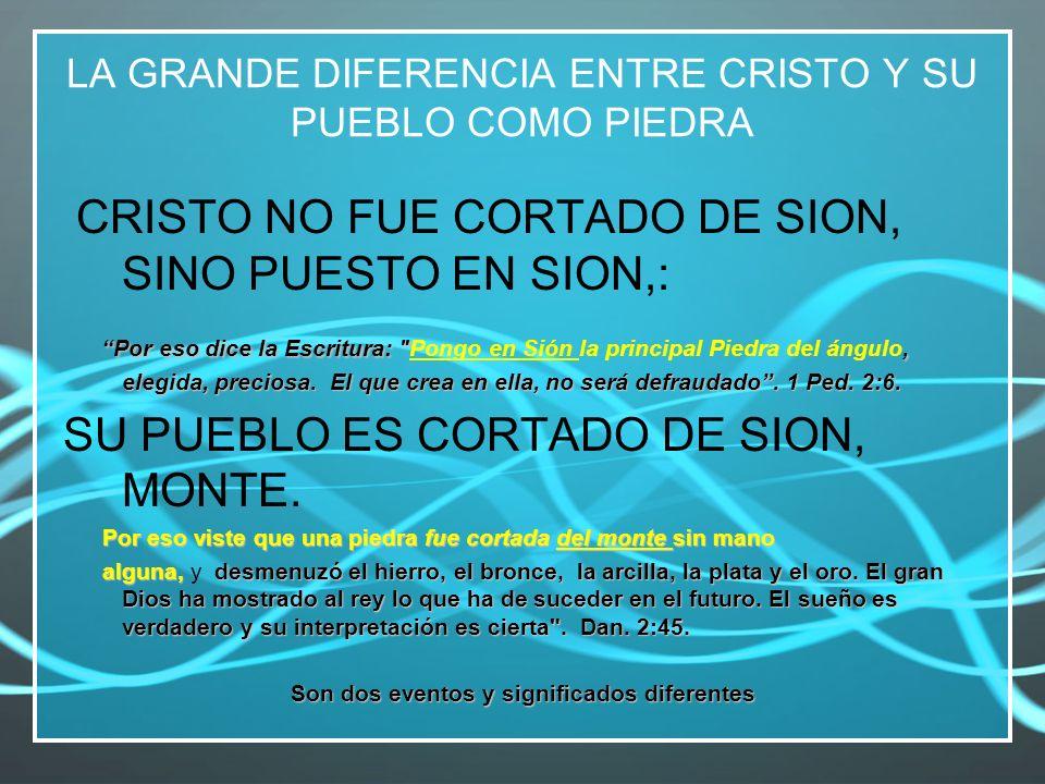 LA GRANDE DIFERENCIA ENTRE CRISTO Y SU PUEBLO COMO PIEDRA