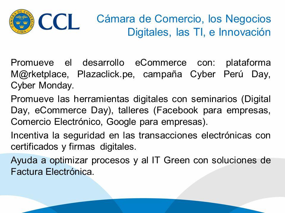 Cámara de Comercio, los Negocios Digitales, las TI, e Innovación