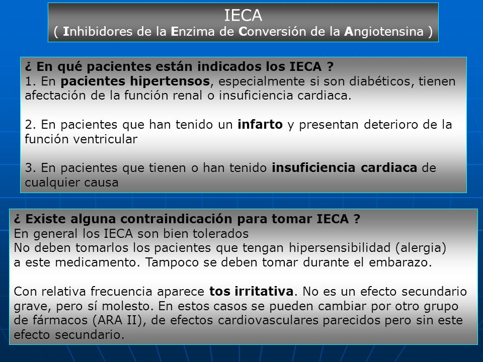 ( Inhibidores de la Enzima de Conversión de la Angiotensina )