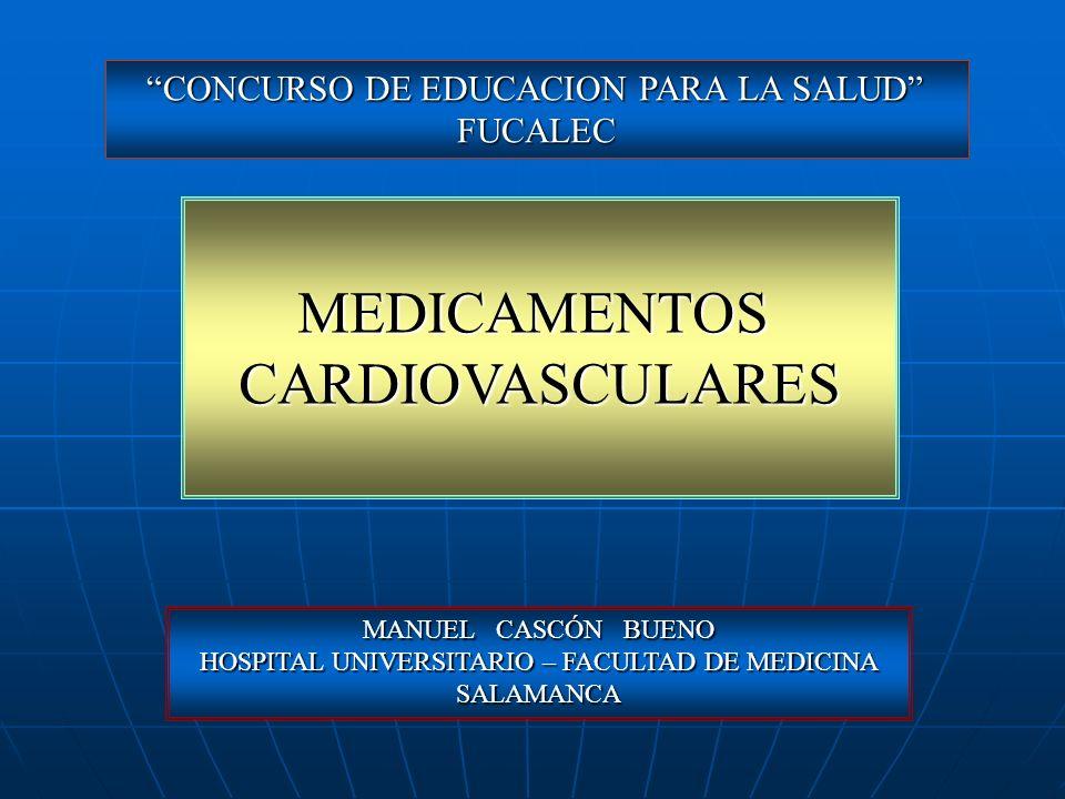 MEDICAMENTOS CARDIOVASCULARES CONCURSO DE EDUCACION PARA LA SALUD