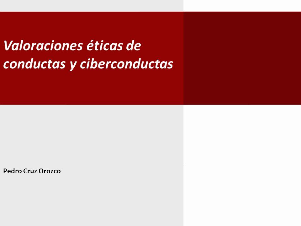 Valoraciones éticas de conductas y ciberconductas