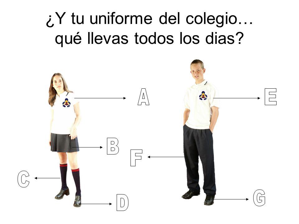 ¿Y tu uniforme del colegio… qué llevas todos los dias