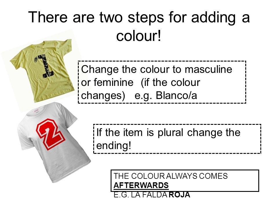 There are two steps for adding a colour!