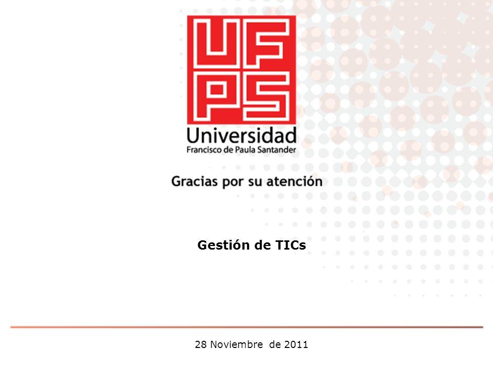 Gestión de TICs 28 Noviembre de 2011