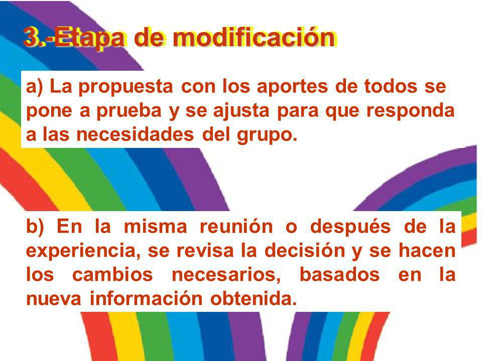 3.-Etapa de modificación