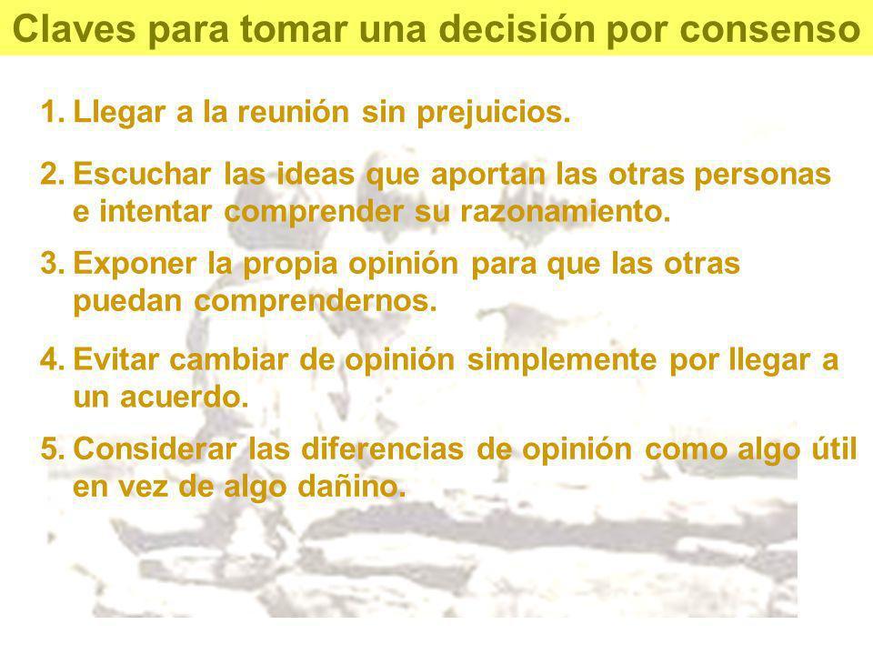 Claves para tomar una decisión por consenso