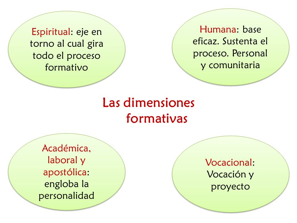 Las dimensiones formativas