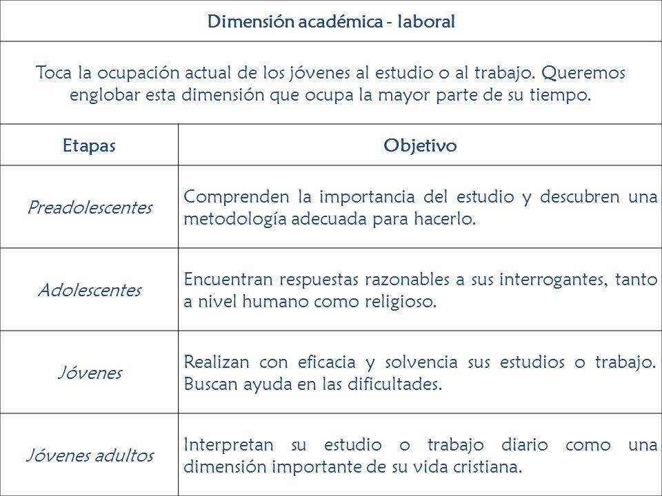 Dimensión académica - laboral