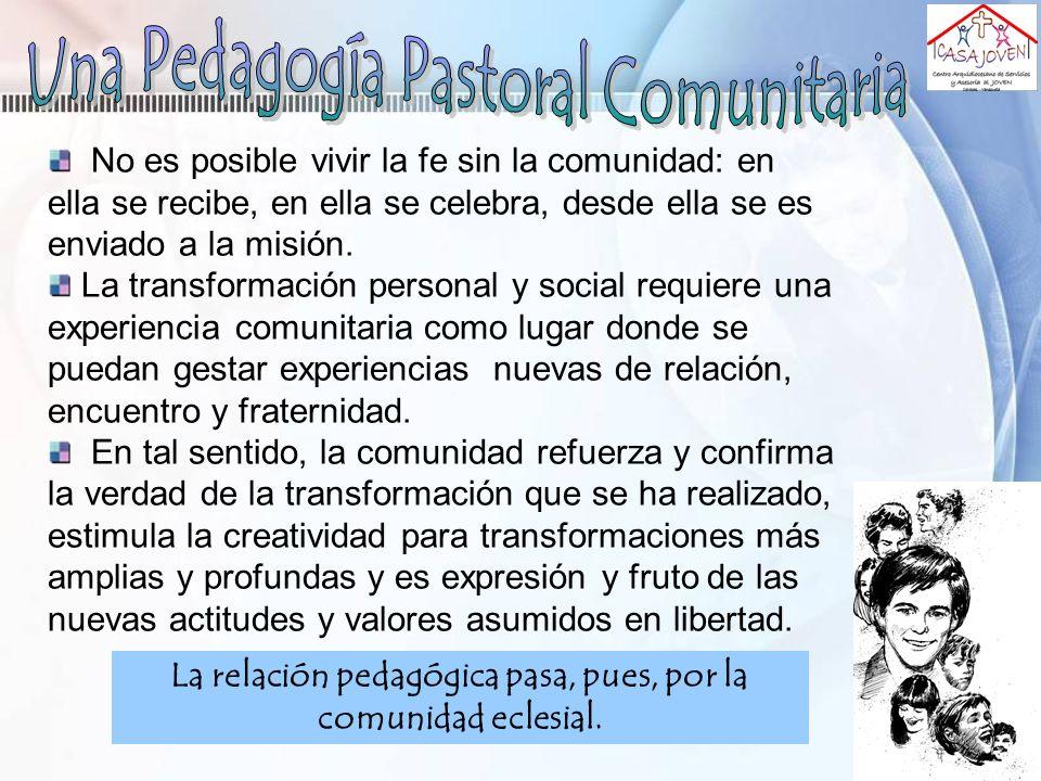 Una Pedagogía Pastoral Comunitaria