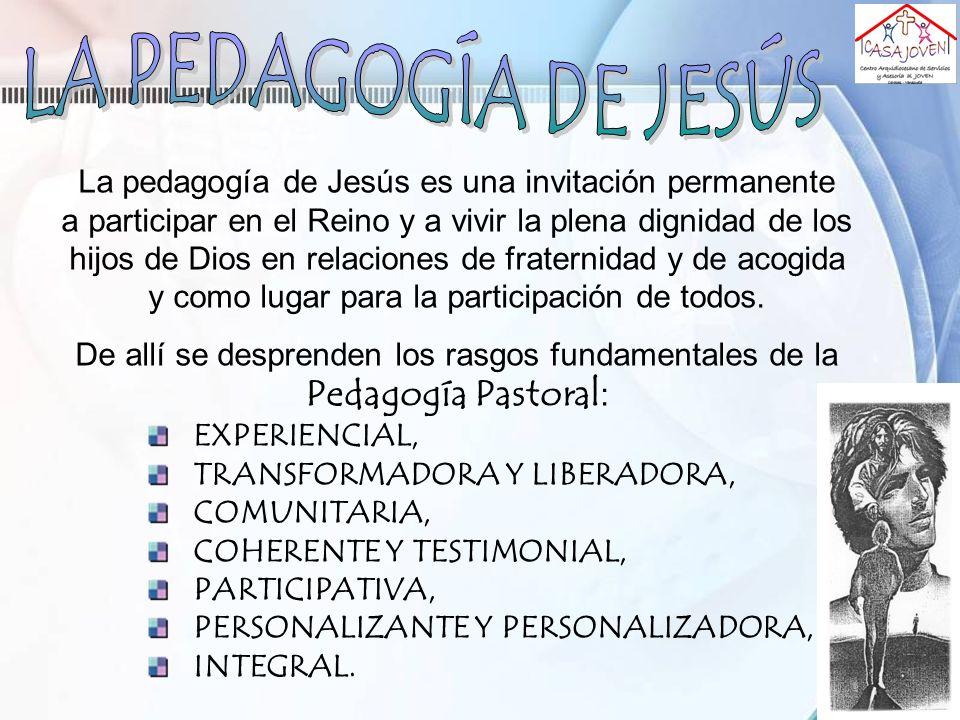 LA PEDAGOGÍA DE JESÚS La pedagogía de Jesús es una invitación permanente.