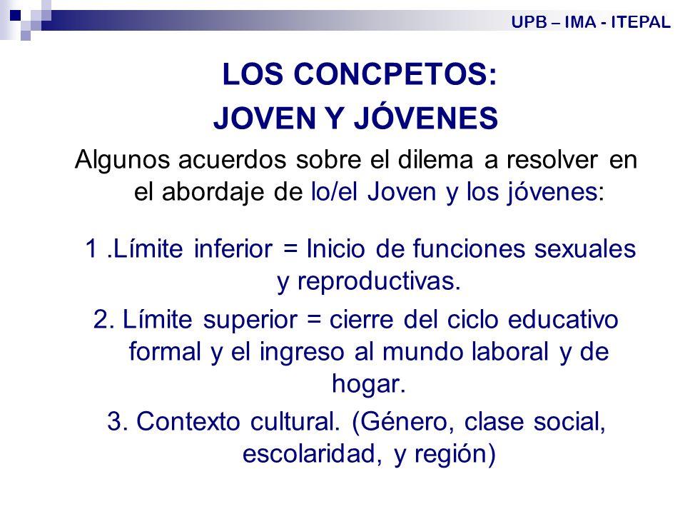 JOVEN Y JÓVENES LOS CONCPETOS: