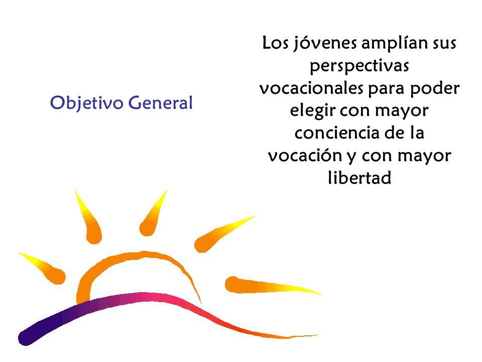 Los jóvenes amplían sus perspectivas vocacionales para poder elegir con mayor conciencia de la vocación y con mayor libertad