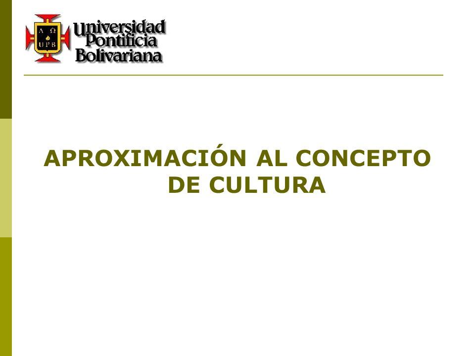 APROXIMACIÓN AL CONCEPTO DE CULTURA