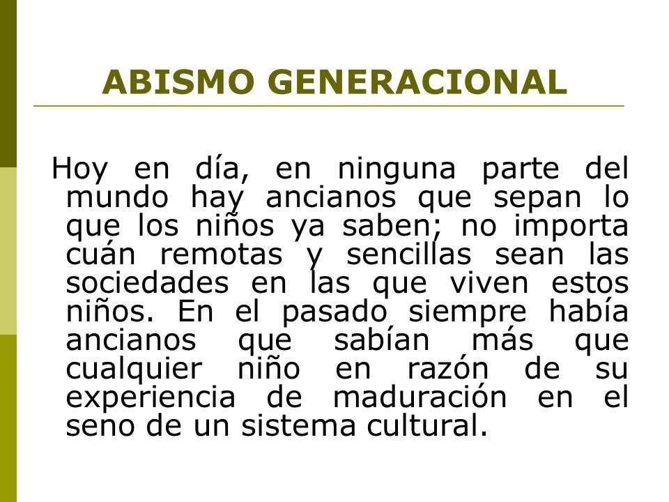 ABISMO GENERACIONAL