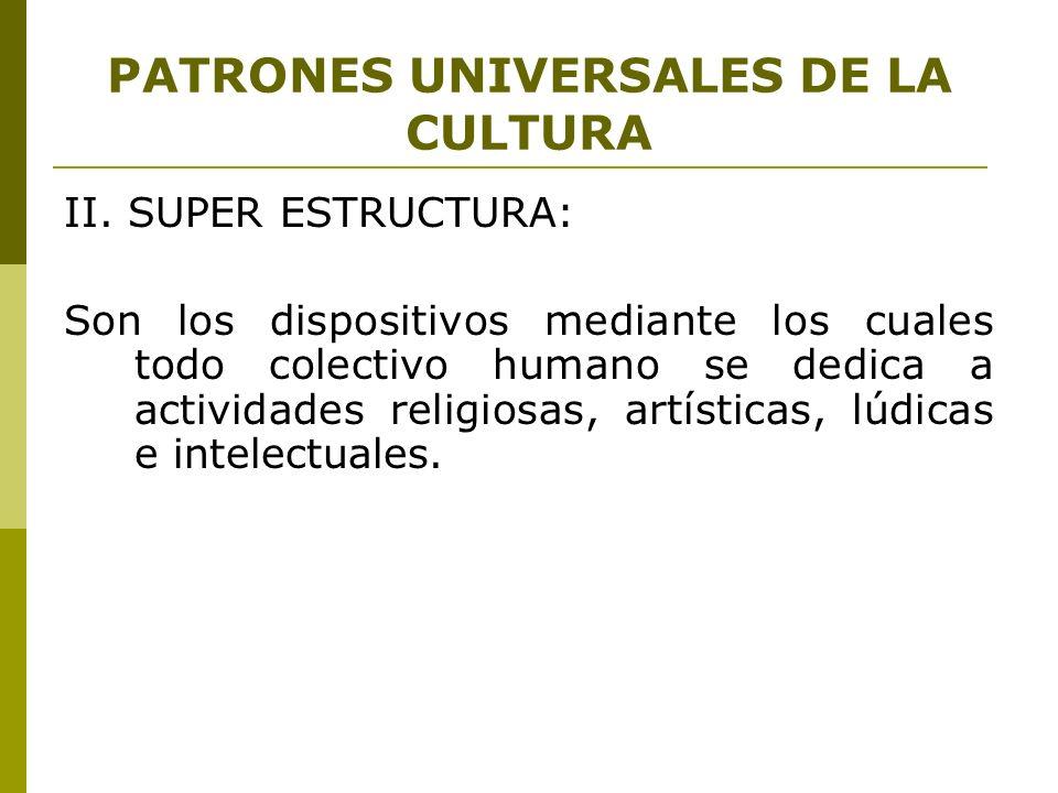 PATRONES UNIVERSALES DE LA CULTURA