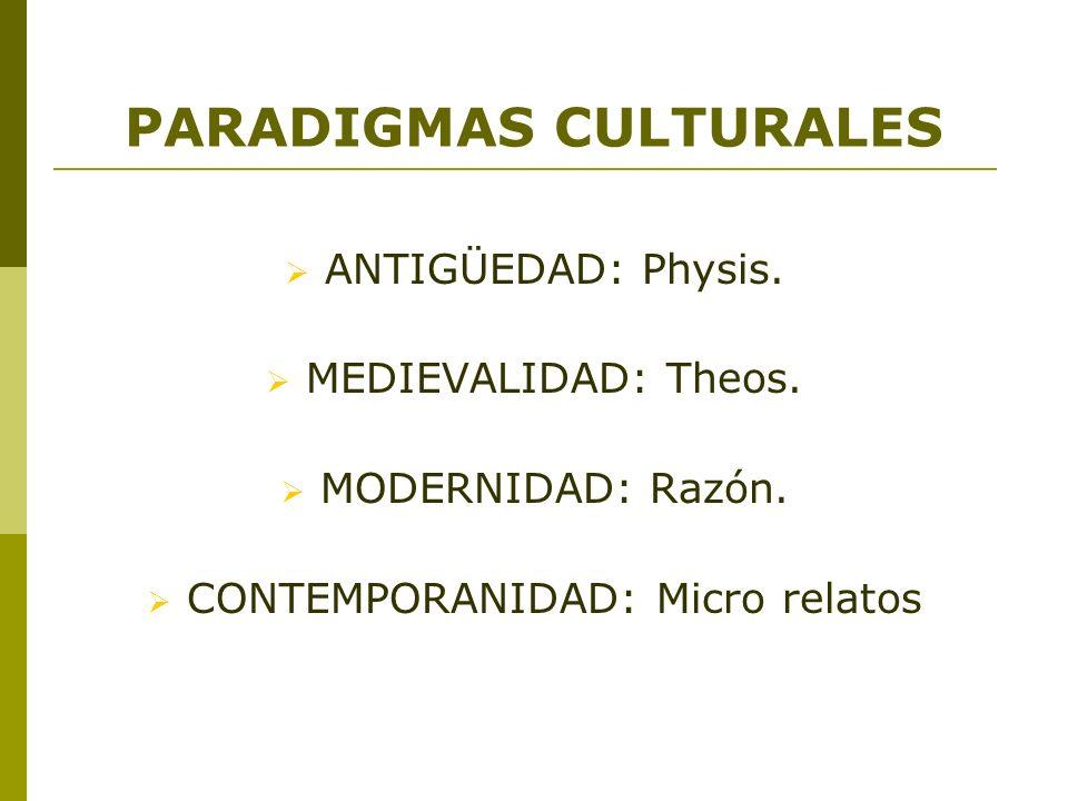 PARADIGMAS CULTURALES