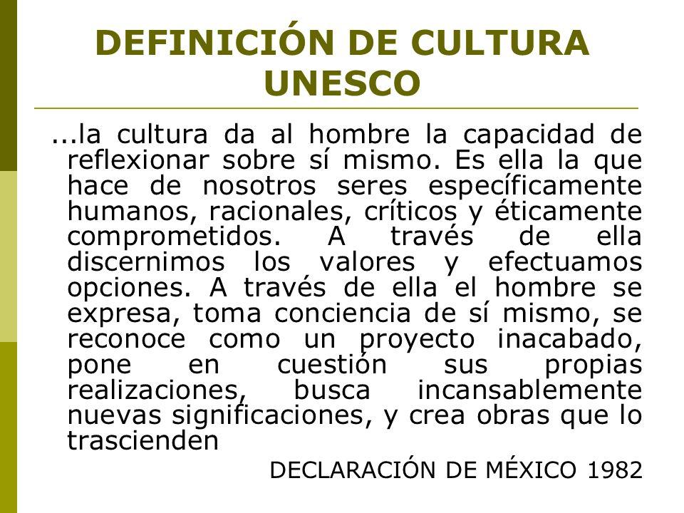 DEFINICIÓN DE CULTURA UNESCO