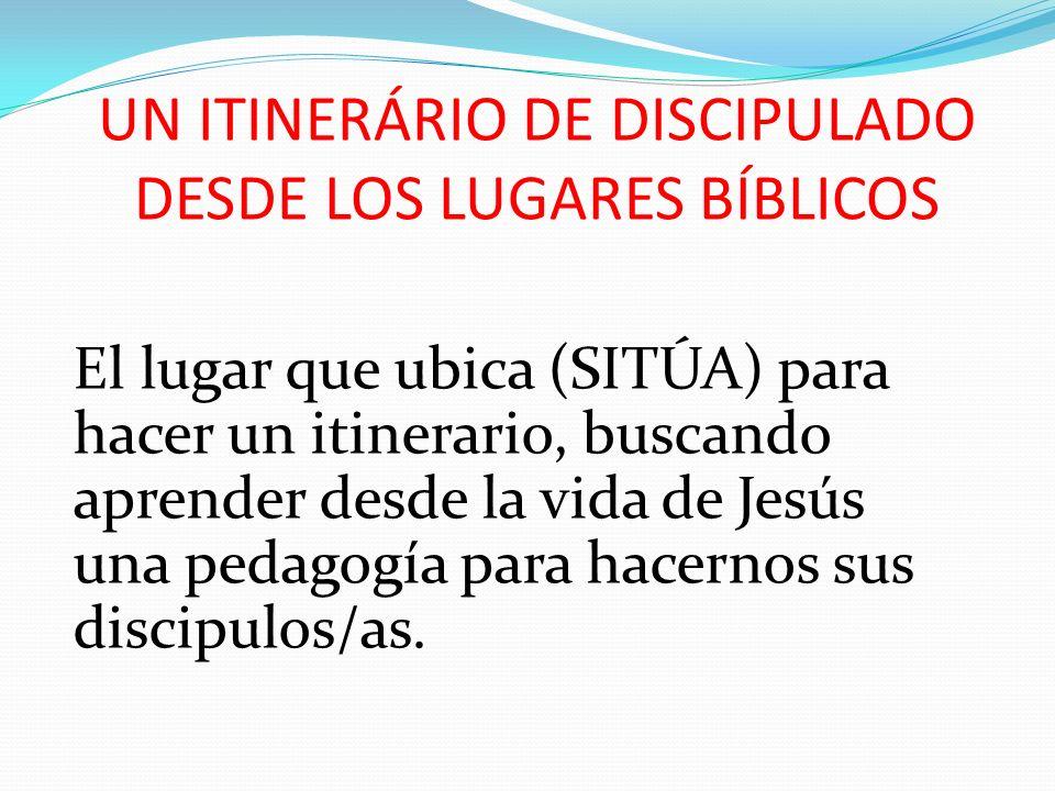 UN ITINERÁRIO DE DISCIPULADO DESDE LOS LUGARES BÍBLICOS