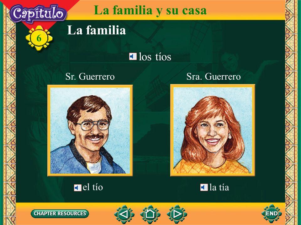 La familia y su casa La familia los tíos 6 Sr. Guerrero Sra. Guerrero