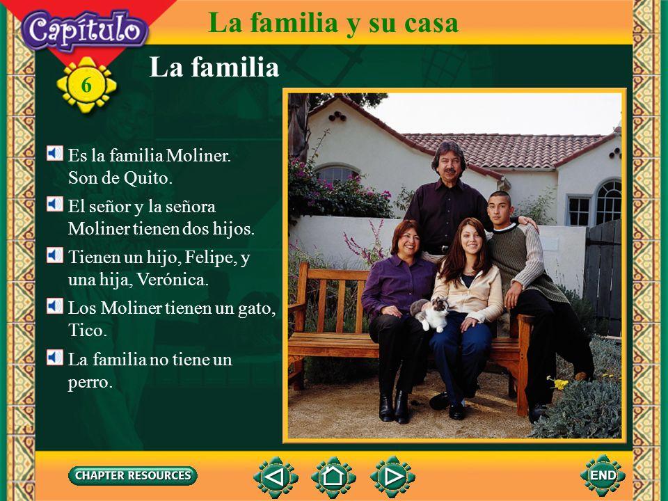 La familia y su casa La familia 6 Es la familia Moliner. Son de Quito.