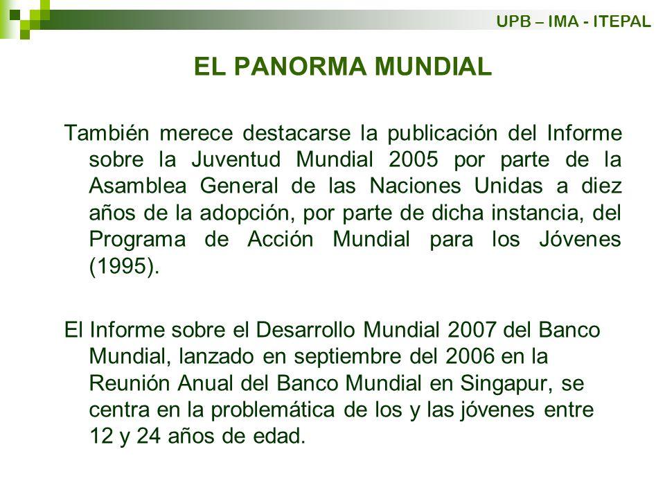 UPB – IMA - ITEPAL EL PANORMA MUNDIAL.