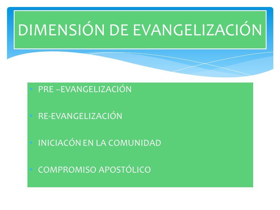 DIMENSIÓN DE EVANGELIZACIÓN