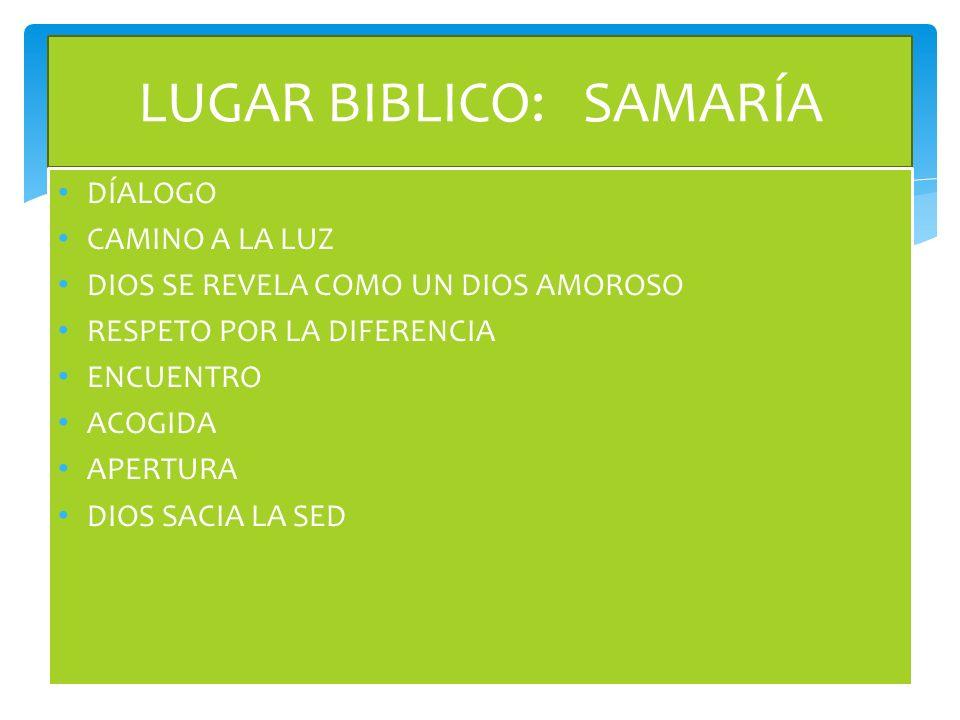 LUGAR BIBLICO: SAMARÍA