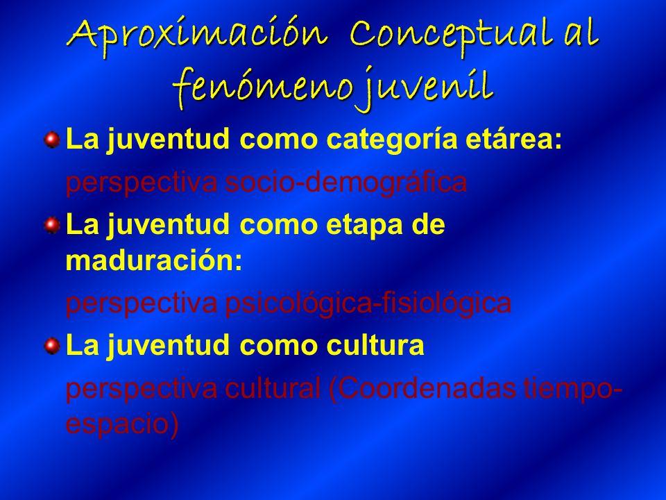 Aproximación Conceptual al fenómeno juvenil