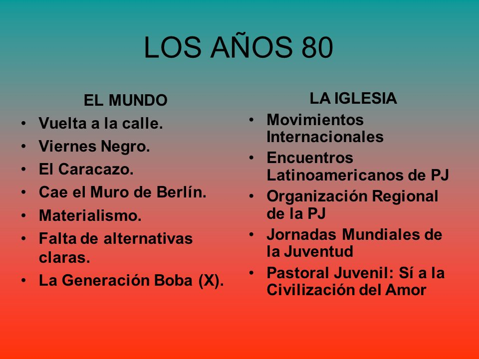 LOS AÑOS 80 EL MUNDO Vuelta a la calle. Viernes Negro. El Caracazo.