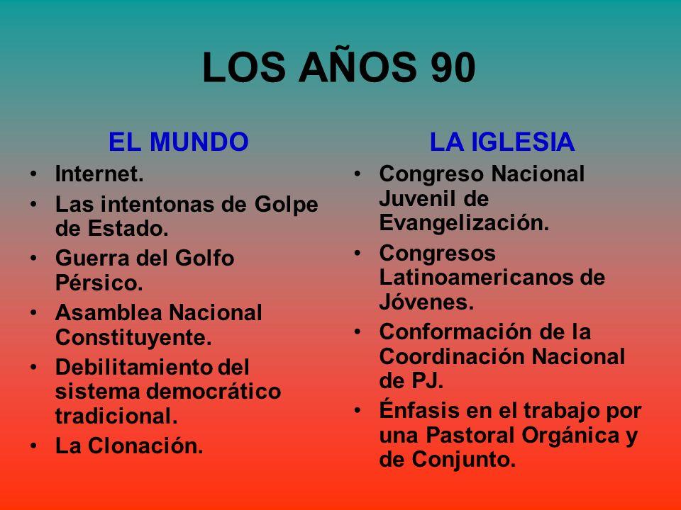 LOS AÑOS 90 EL MUNDO LA IGLESIA Internet.