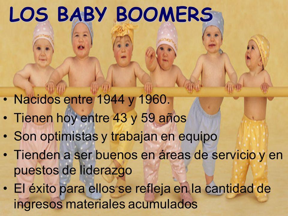 LOS BABY BOOMERS Nacidos entre 1944 y 1960.