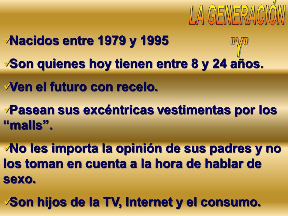 LA GENERACIÓN Y Nacidos entre 1979 y 1995