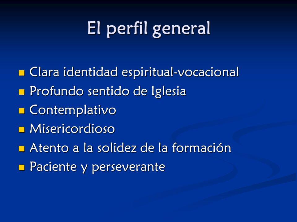 El perfil general Clara identidad espiritual-vocacional