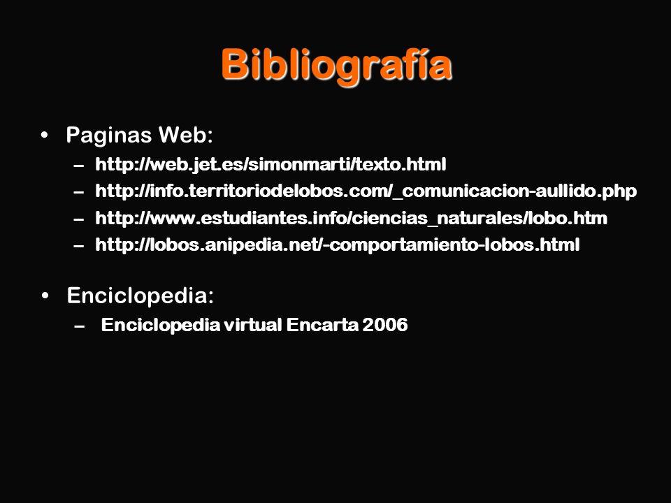 Bibliografía Paginas Web: Enciclopedia: