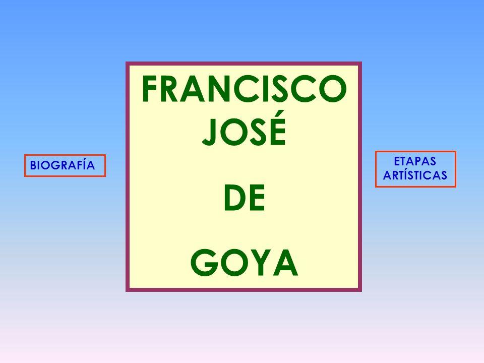 FRANCISCO JOSÉ DE GOYA ETAPAS ARTÍSTICAS BIOGRAFÍA