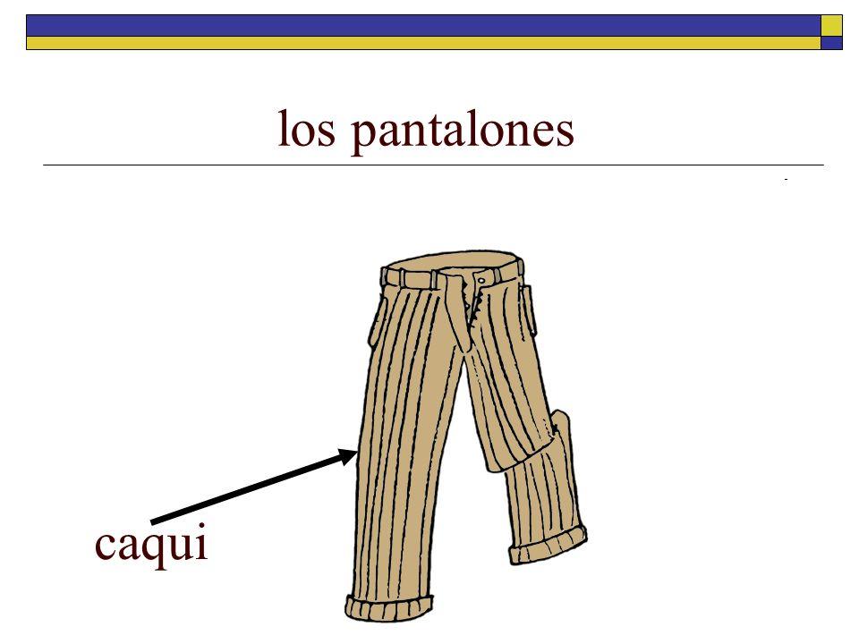 los pantalones caqui