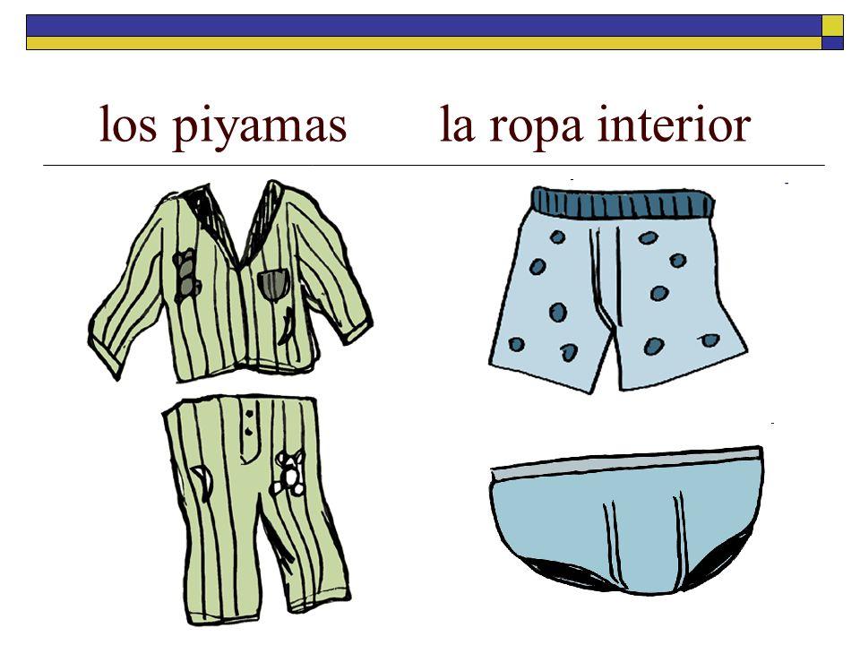 los piyamas la ropa interior