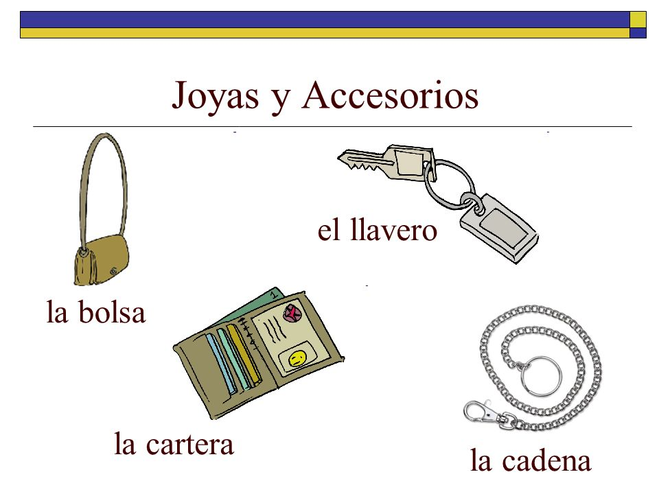 Joyas y Accesorios el llavero la bolsa la cartera la cadena