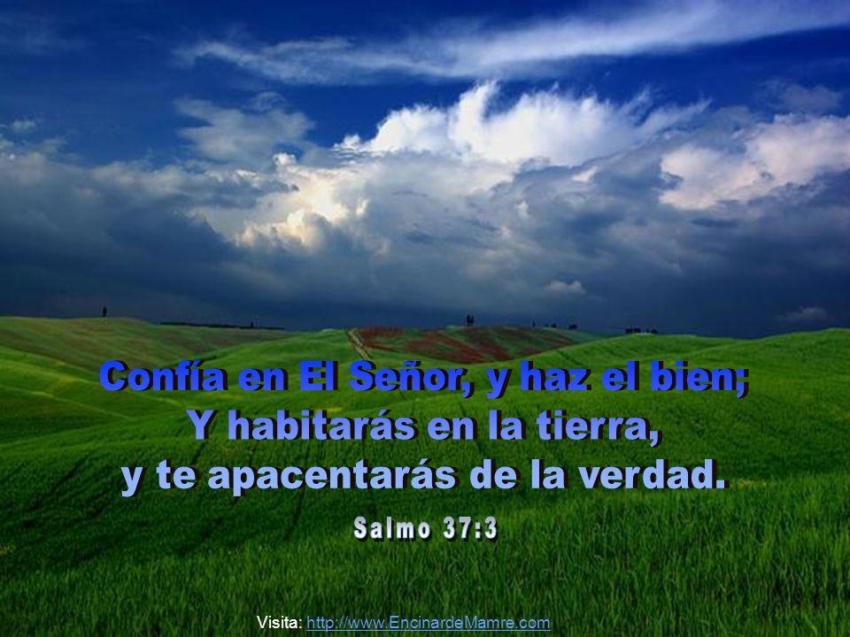 Confía en El Señor, y haz el bien; Y habitarás en la tierra,
