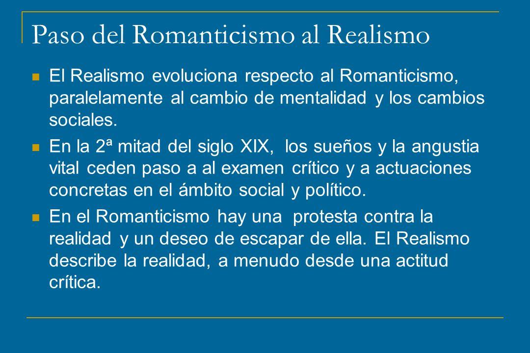 Paso del Romanticismo al Realismo