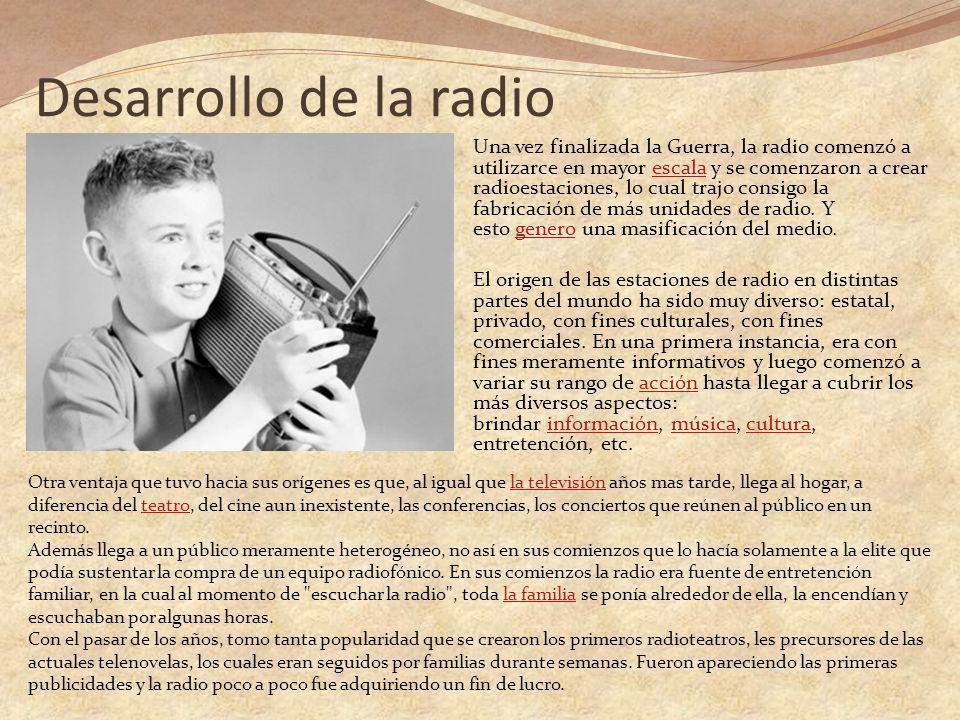 Desarrollo de la radio