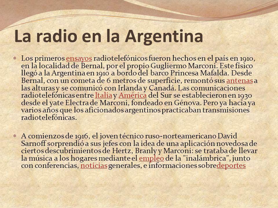 La radio en la Argentina