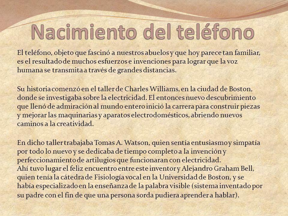 Nacimiento del teléfono