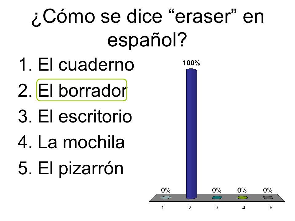 ¿Cómo se dice eraser en español