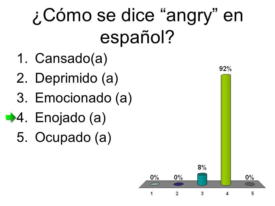 ¿Cómo se dice angry en español