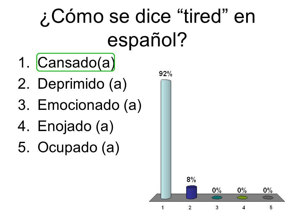 ¿Cómo se dice tired en español