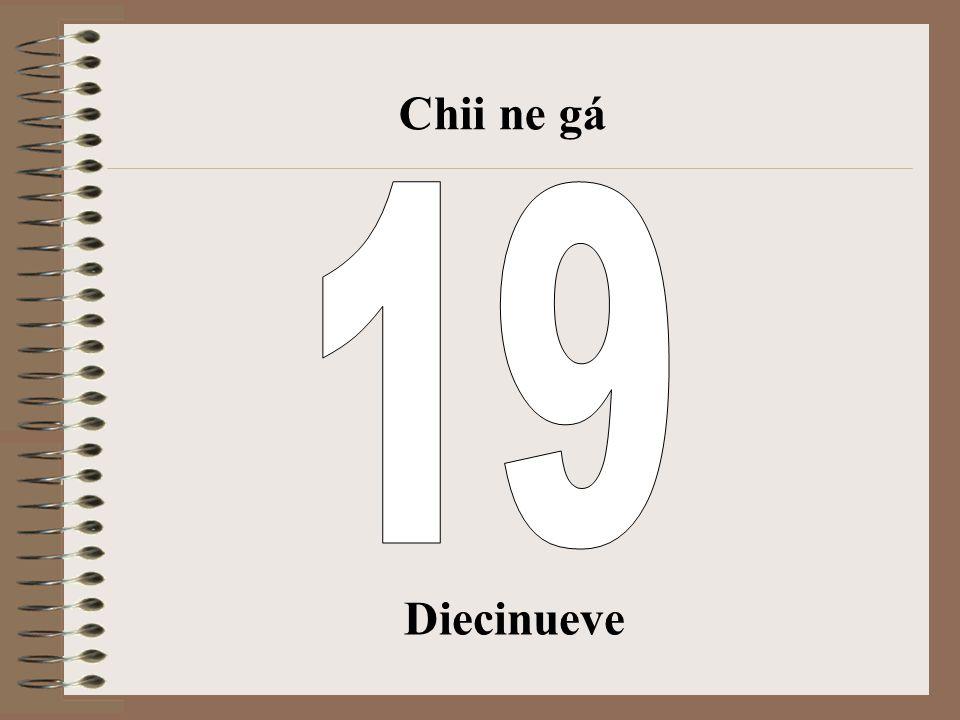 Chii ne gá 19 Diecinueve