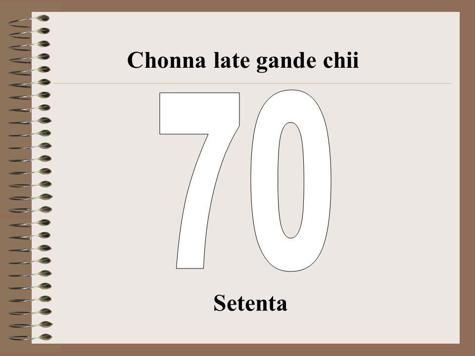 Chonna late gande chii 70 Setenta